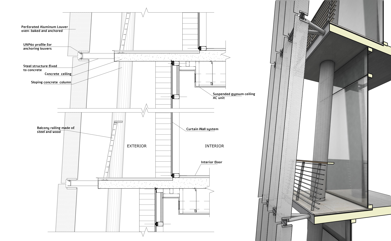 Facade Detail O2a Studio